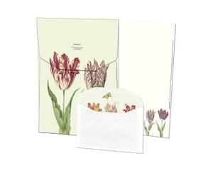 Bilde av Skrivepakke, tulipaner med ark og konvolutter
