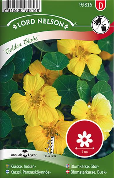 Blomkarse 'Golden Globe' - Tropaeolum majus