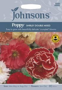 Bilde av Valmue, korn- 'Shirley Double Mixed' - Papaver rhoeas