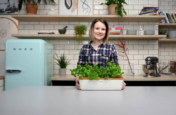 Minidrivhus BoQube, dyrkingssystem grå/grønn