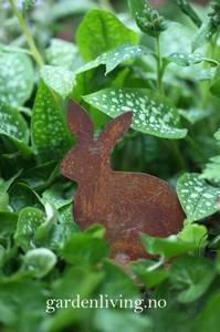 Bilde av Kanin sittende, rust 11 cm