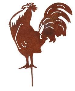 Bilde av Galende hane i rust