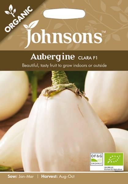 Aubergine 'Clara' F1 - Solanum melongena - Organic