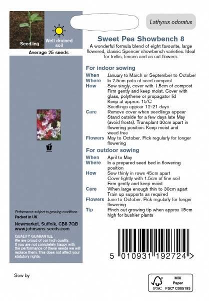Blomsterert 'Showbench 8' - Lathyrus odoratus